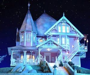 doll, house, and night image