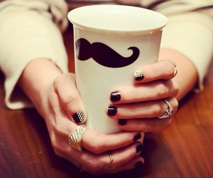 moustache and nails image