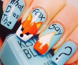 nails, fox, and blue image