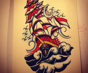 art, ink, and sailor image