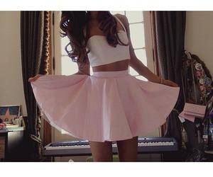 ariana grande, skirt, and pink image