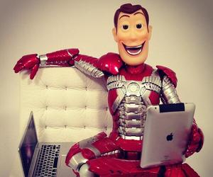 iron man, toy story, and woody image