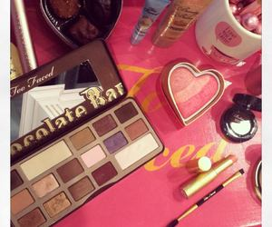 blush, chocolate, and cosmetics image