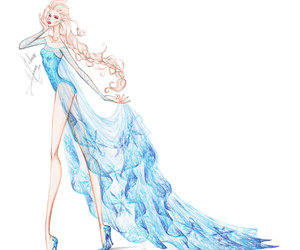 drawing, frozen, and elsa image