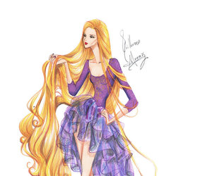 rapunzel, tangled, and high fashion disney image