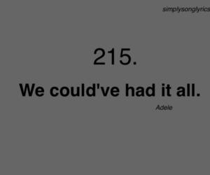 2, Adele, and Lyrics image