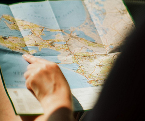 travel and map image