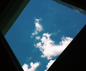 hipster, indie, and sky image