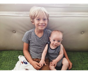 babies, blond, and boys image