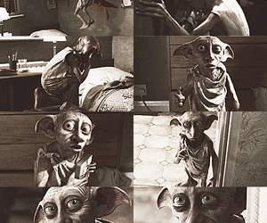 harry potter, hp, and dobby image