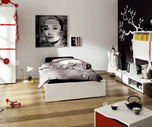 bedroom, kids' bedroom, and bedroom for young people image