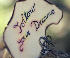 Dream, follow, and key image