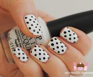 black and white, polka dot, and cupcake image