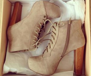 beautiful, beige, and boots image
