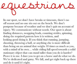 equestrian and quote image