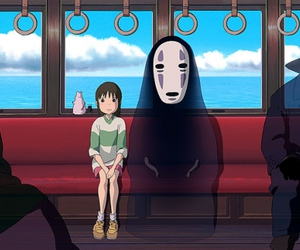 anime, no face, and spirited away image