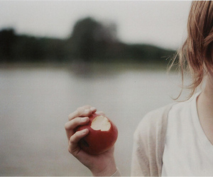 apple, girl, and photography image