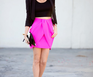black, fashion, and pink image