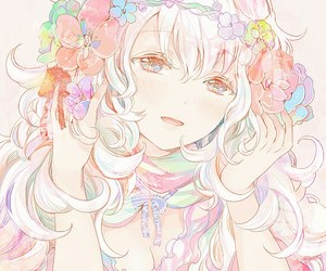 flowers, cute, and girls image