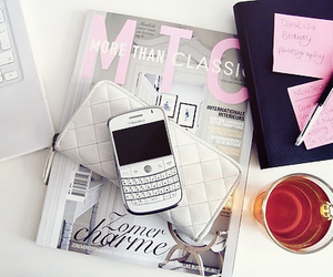 blackberry, magazine, and white image
