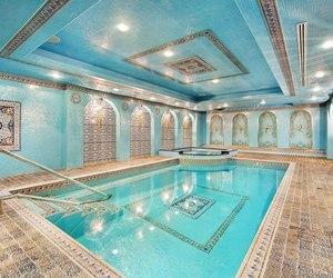 luxury, pool, and water image