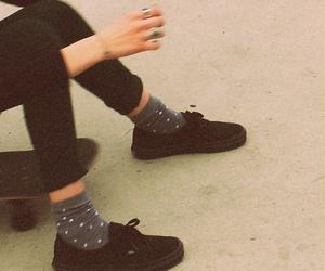 shoes, black, and socks image