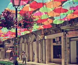 umbrella, colors, and portugal image
