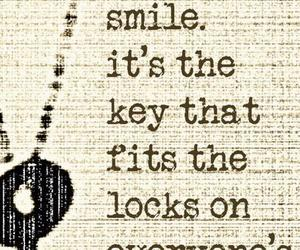 smile, key, and quote image