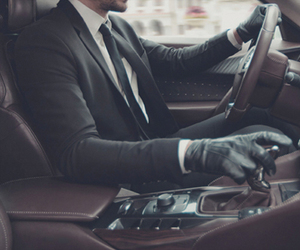 car, man, and suit image