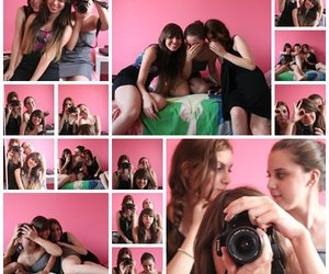 friend, pink, and girl image