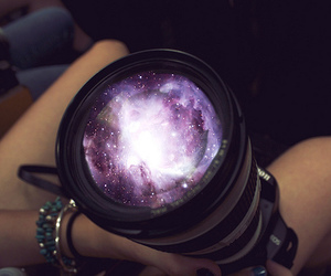 camera, galaxy, and space image