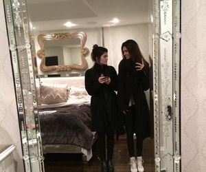kendall jenner, kylie jenner, and black image