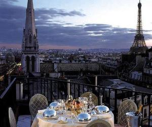 dinner, paris, and view image