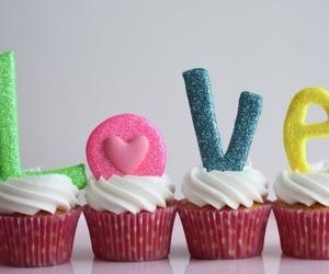 cupcake, love, and food image