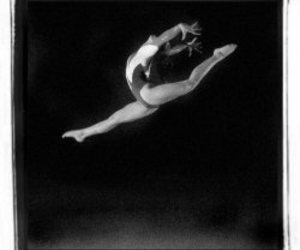 black and white, flexible, and gymnast image