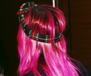 demi lovato, pink, and hair image