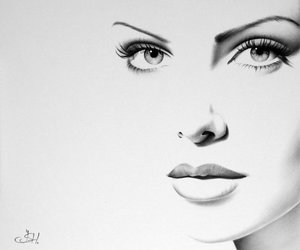 Charlize Theron, drawing, and amazing image
