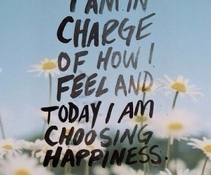 happiness, quote, and flowers image