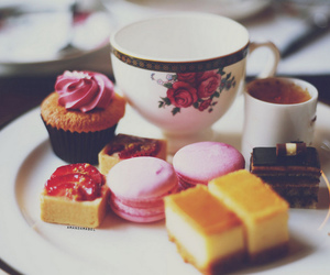food, tea, and sweet image
