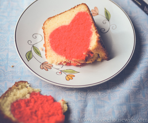 cake, heart, and valentine's image