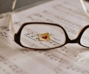 glasses, heart, and melodi image