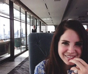 lana del rey, smile, and gif image