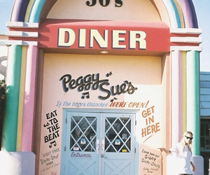 diner, 50s, and place image