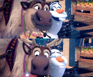 frozen, olaf, and sven image