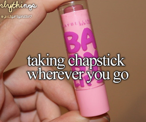 chapstick, just girly things, and baby lips image