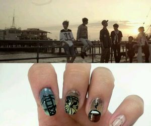 coffee shop, nail art, and b.a.p image