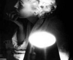 abajour, b&w, and Marilyn Monroe image