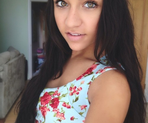 andrea russett, andrea, and flower crown image