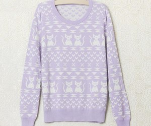 cats, sweater, and plum color image