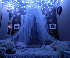 room, light, and blue image